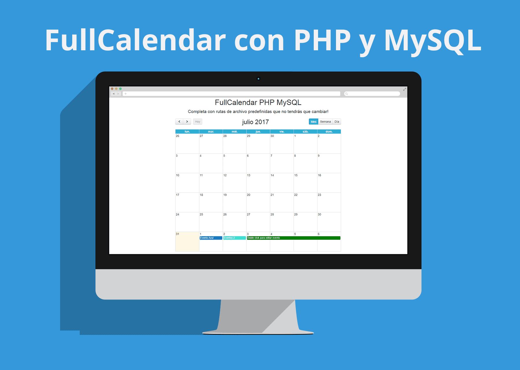 FullCalendar con PHP y MySQL