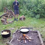 Hj.lavet pommes frites på bål