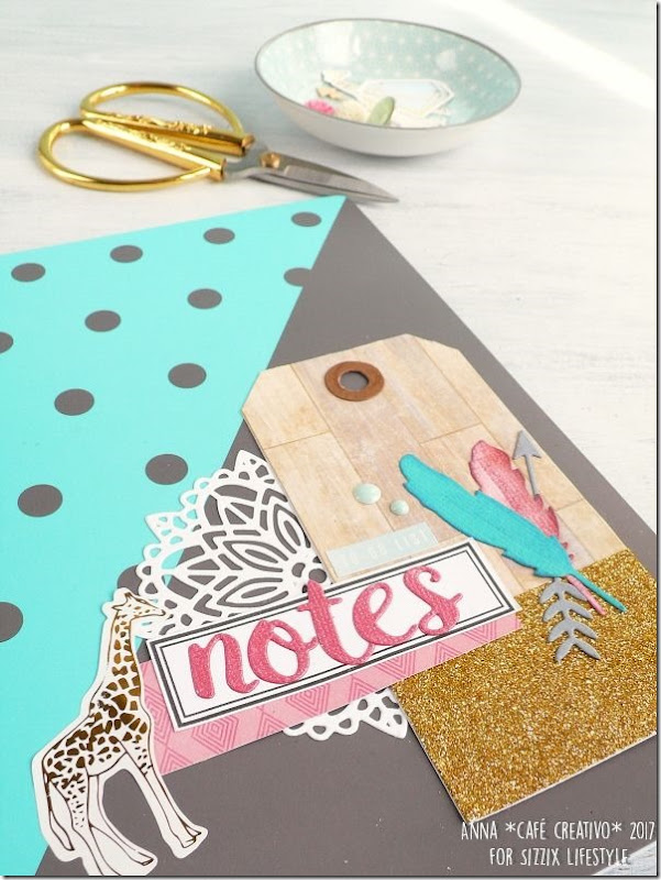 Notes personalizzato Festival - Boho Dreams con la Big Shot e le Fustelle Sizzix