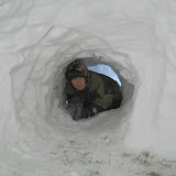 Marcin w igloo