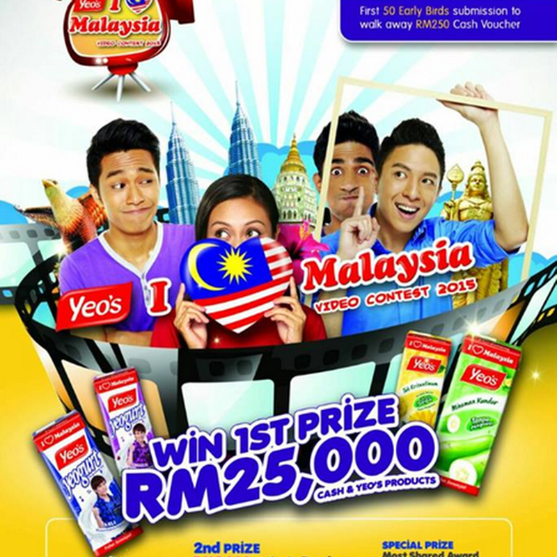 YEO'S   : 'I LOVE MALAYSIA' Video Contest 2015