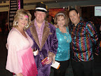 Party goers donned disco clothes for the Soul Train party at the Fort Worth Convention Center.