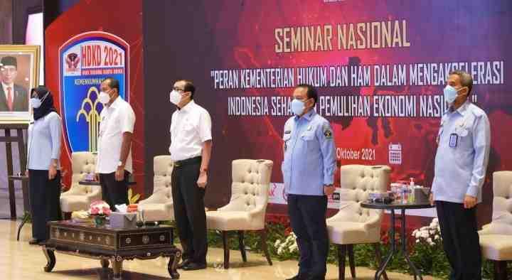 KEMENTERIAN HUKUM DAN HAM DUKUNG AKSELERASI INDONESIA SEHAT DAN PEMULIHAN EKONOMI NASIONAL