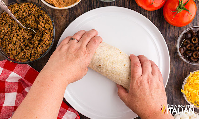 taco bell burrito supreme rolled up