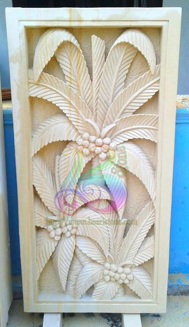 Relief untuk dinding motif daun kelapa