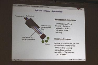 「光化学センサー(オプトード) - 原理と応用」 Prof.Ingo Klimant