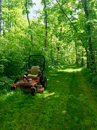 Mowing on the ski trails, May 24th, 2017.