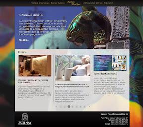 Website design a Zsolnay Porcelánmanufaktúra Zrt.-nek.