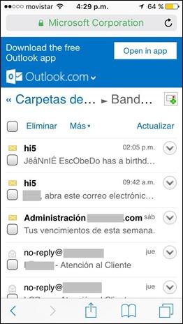 Iniciar sesión Hotmail desde celular - 2