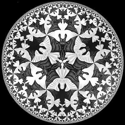 M.C. Escher's Circle Limit IV: Heaven and Hell