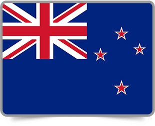 New Zealand framed flag icons with box shadow