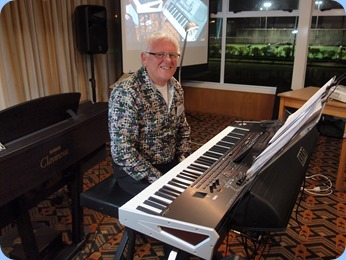 Rod Moffat playing his Korg Pa4X.  Photo courtesy of Dennis Lyons.