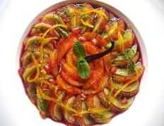 recette du Méli Mélo d'oranges sanguines à la menthe et vin doux