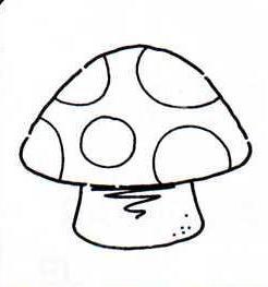 Dibujos de setas con puntos para pintar - Pintar bano con hongos ...
