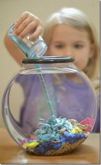 make your own aqua sand recipe kids activities - Toddler, Preschool and Kindergarten kids especially are going to LOVE this activity!