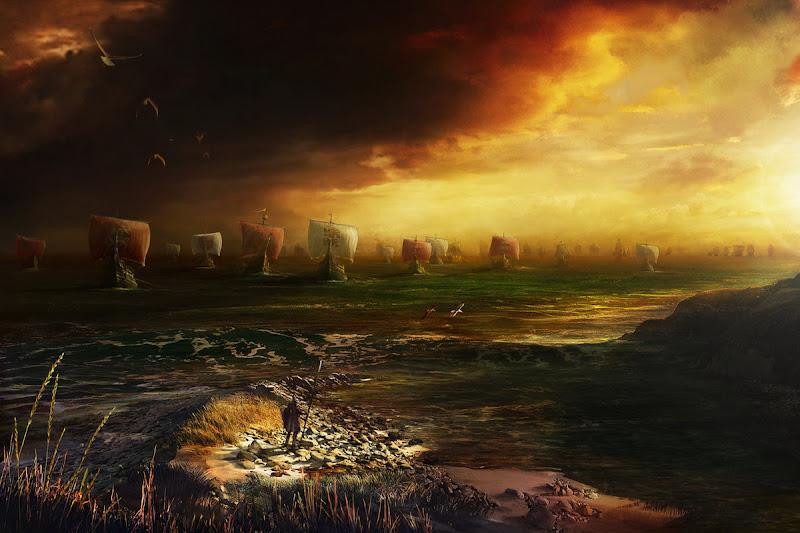 Ships On Sunset, Magical Landscapes 2