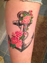 anchor and rose tattoo Ideas 4