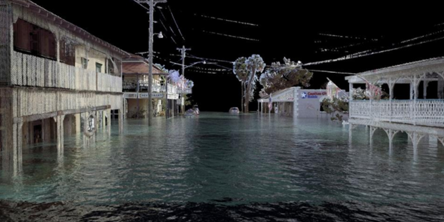 Morris Hylton III, director of the Historic Preservation Program at the University of Florida, is using 3-D scanning and computer modeling to illustrate what may happen to the state's historic buildings as sea levels rise. Photo: Morris Hylton III / University of Florida