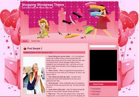 Shopping Theme Wordpress Pink