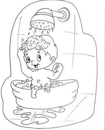 Pintar Dibujos De Habitos Saludables Para Niños