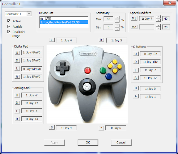 project 64 controller Hi i have a retrolink usb n64 controller which i am trying to use on my pc with windows 10 installed it is recognized in the control panel as a generic controller.