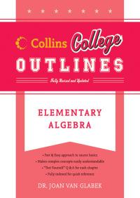 Elementary Algebra By Joan Van Glabek