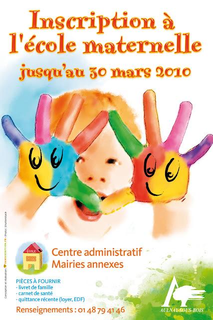 affiche mairie Aulnay-sous-Bois Incription ecole maternelle -Sans Exception