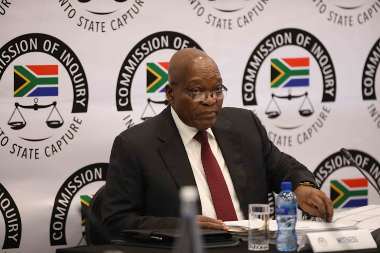 Former president Jacob Zuma on his third day before the commission of inquiry into allegations of state capture on July 17 2019. Picture: SOWETAN/THULANI MBELE
