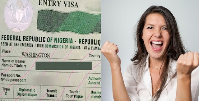 """""""God has done it"""" – American lady Celebrates after getting Nigerian visa"""