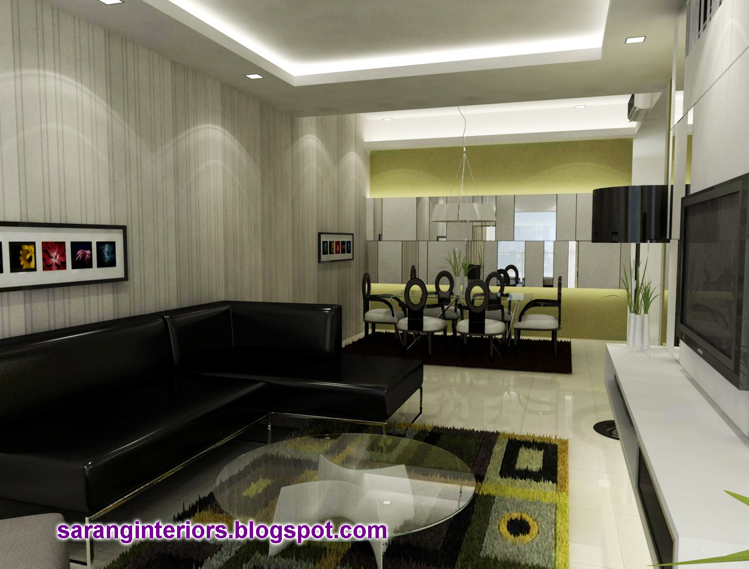 Interior design living hall malaysia living room for Living hall interior