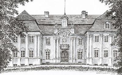 Pałac w Dziesławiu – stan przed 1945 r.