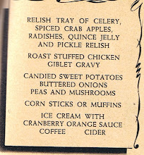 Photo: There were 3 Thanksgiving menus shown in the issue. The other 2 follow.