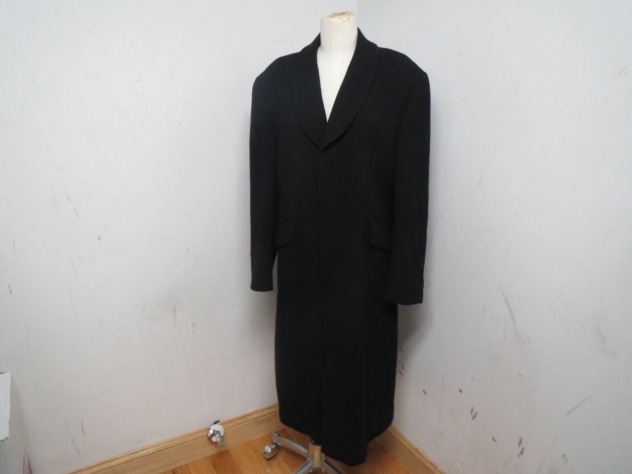 Vintage Thierry Mugler Black Wool Coat