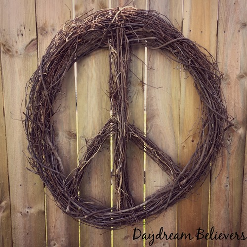 handmade peace sign wreath diy details to make your own on daydream believers designs