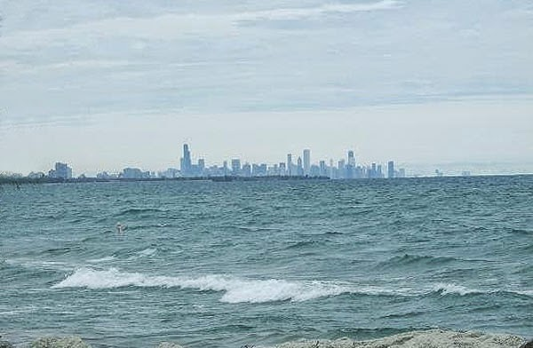 Chicago Skyline seen from Whiting, IN