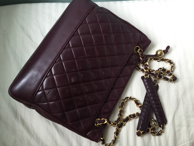 Vintage Chanel Quilted Leather Tote