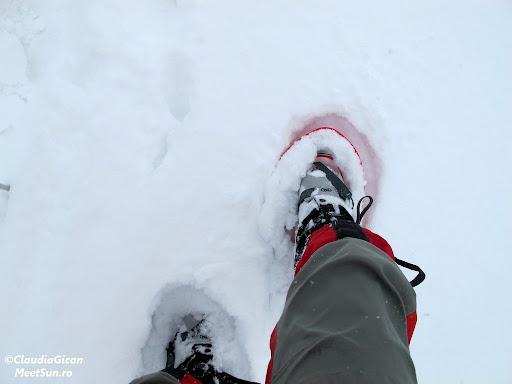 zapada e foarte afanata, dar ma simt perfect inafara potecii
