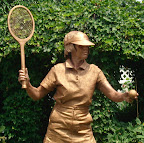 Bronze Tennis Player close up
