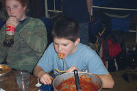 ... learning how to eat spaghetti