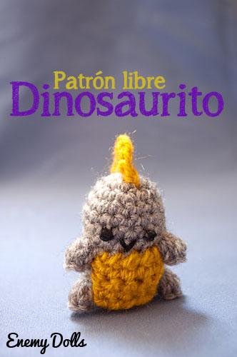 Dinosaurio pequeño patrón libre y gratuito