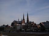 Maria van Jesse kerk op een mooie, koude maandag in Delft
