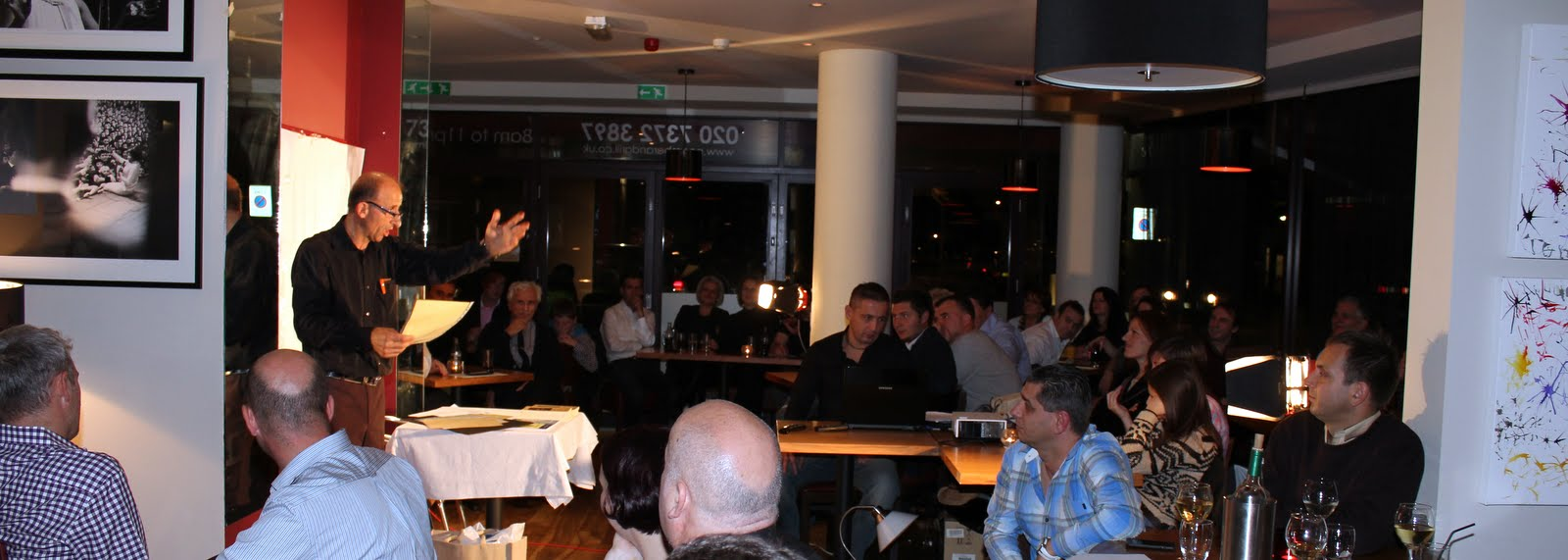 "An event organised by British Albanian association ""Peja"" at Poem Bar and Grill, St John's Wood, London, 30th October 2011."