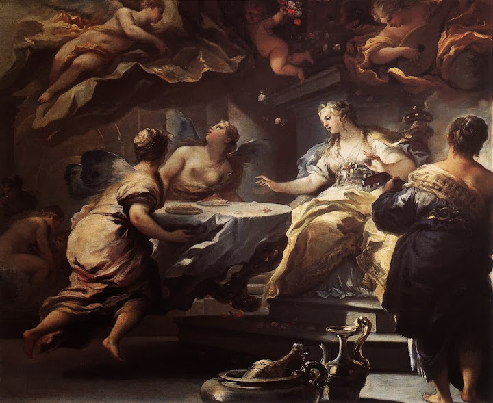 Luca Giordano - Psyche Served by Invisible Spirits