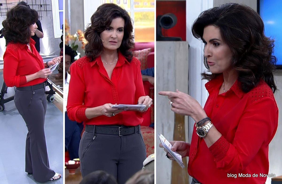 moda do programa Encontro - look da Fátima Bernardes dia 22 de julho
