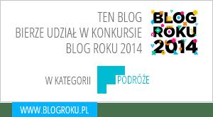 Ruszaj w Drogę w głosowaniu na Blog Roku 2014