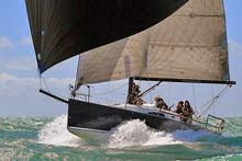 J/111 international one-design sailboat- sailing off Wales, United Kingdom