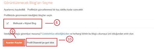 Blogger Kullanıcı Profili Düzenle