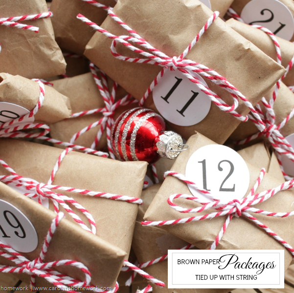 Brown Paper Packages Advent Calendar via homework