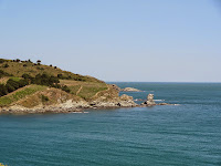 Vue depuis la route en bord de mer à Banyuls