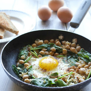 Single Serve Egg and Chickpea Breakfast.
